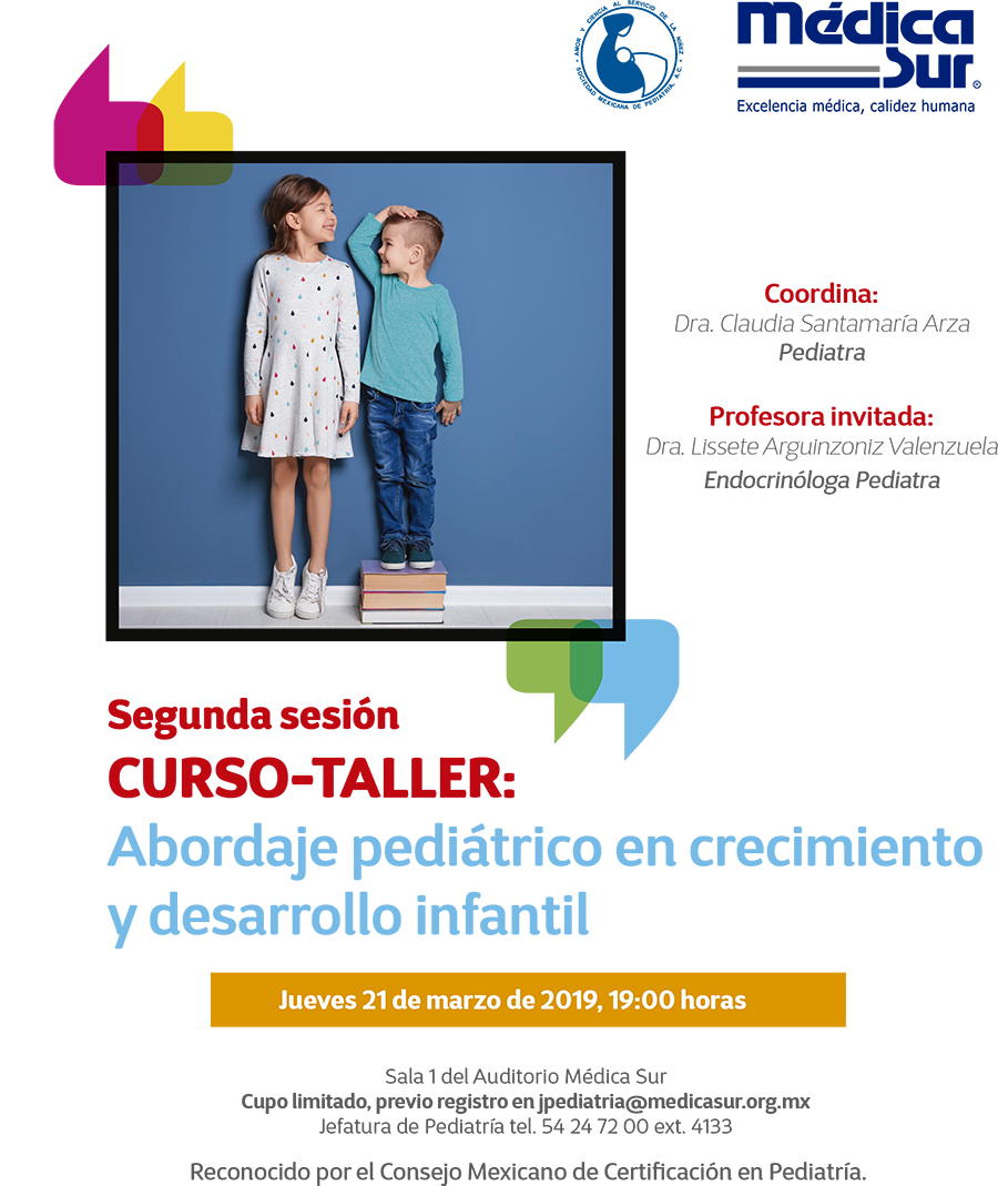 Cartel del evento Simposio Mensual de Pediatria